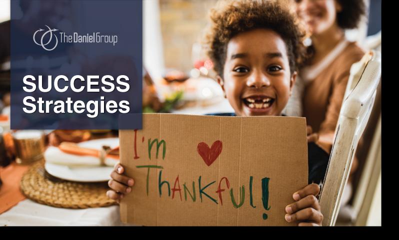 Customer Experience Success Strategies: I'm thankful!
