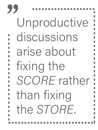 Fix the store not the score