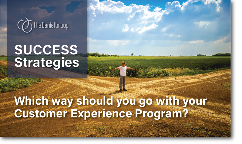 Customer Experience Success Strategies: Which way should you go with your Customer Experience Program?
