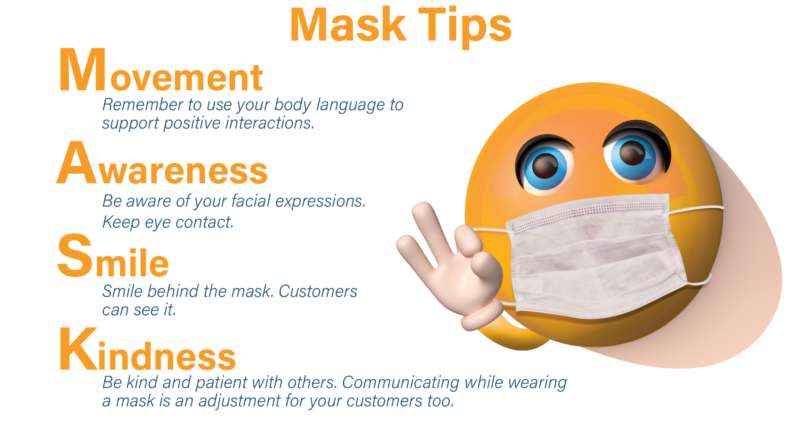 Tips for wearing a mask