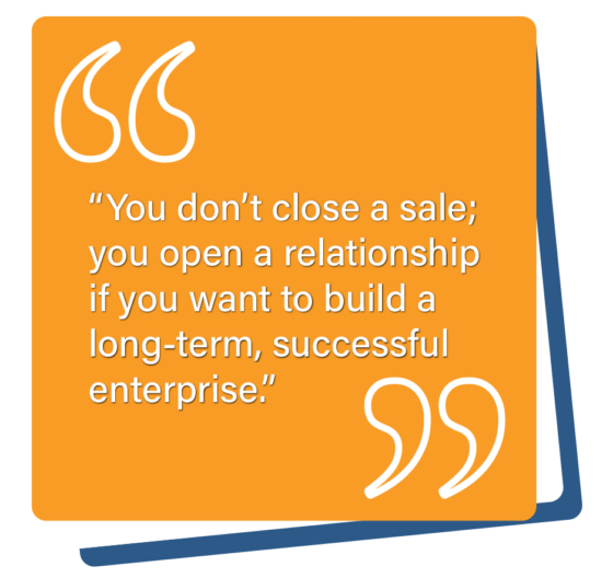 B2B Customer Relationships - You don't close a sale; you open a relationship