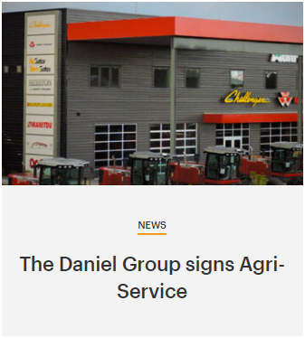 The Daniel Group Signs Agri-Service