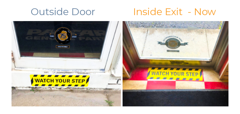 Continuous Improvement - Outside Door - Inside Exit - Now