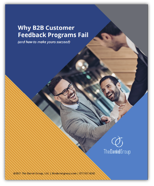The Daniel Group Ebook why b2b customer feedback programs fail
